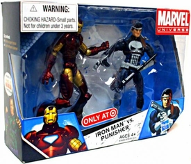 Marvel Universe 3 3/4 Inch Exclusive Action Figure 2-Pack Iron Man Vs. Punisher