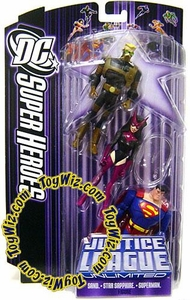 DC Super Heroes Justice League Unlimited Action Figure 3-Pack Sand, Star Sapphire & Superman [Purple Card]