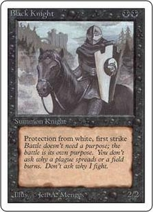 Magic the Gathering Unlimited Edition Single Card Uncommon Black Knight