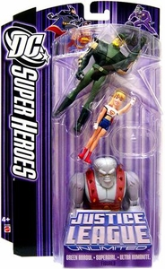 DC Super Heroes Justice League Unlimited Action Figure 3-Pack Green Arrow, Supergirl & Ultra Humanite [Purple Card]