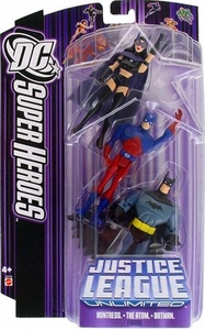 DC Super Heroes Justice League Unlimited Action Figure 3-Pack Huntress, Atom & Batman [Purple Card]