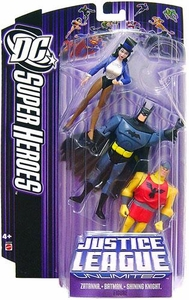 DC Super Heroes Justice League Unlimited Action Figure 3-Pack Zatanna, Batman & Shining Knight [Purple Card]
