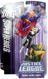 DC Super Heroes Justice League Unlimited Action Figure 3-Pack Superman, Aquaman & Dr. Light [Purple Card]