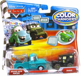 Disney / Pixar CARS Movie 1:55 Color Changers 2-Pack Brand New Mater & Sarge