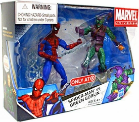 Marvel Universe 3 3/4 Inch Exclusive Action Figure 2-Pack Spider-Man Vs. Green Goblin