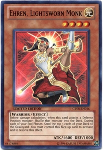 YuGiOh ZEXAL 2011 Holiday Tin Promo Single Card Super Rare CT08-EN016 Ehren, Lightsworn Monk BLOWOUT SALE!