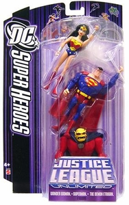 DC Super Heroes Justice League Unlimited Action Figure 3-Pack Wonder Woman, Superman & Demon Etrigan [Purple Card]