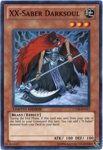 YuGiOh ZEXAL 2011 Holiday Tin Promo Single Card Super Rare CT08-EN017 XX-Saber Darksoul