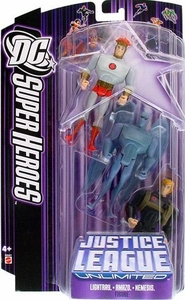 DC Super Heroes Justice League Unlimited Action Figure 3-Pack Lightray, Amazo & Nemesis [Purple Card]