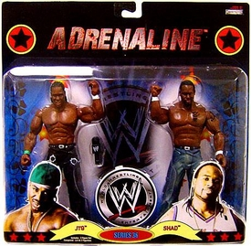 WWE Wrestling Adrenaline Series 36 Action Figure 2-Pack JTG & Shad [Cryme Tyme]