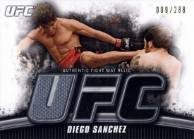 UFC Topps Ultimate Fighting Championship 2010 Knockout Single Card Gold Mat Relic FM-DS Diego Sanchez 9/288