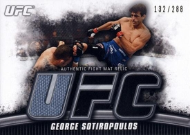 UFC Topps Ultimate Fighting Championship 2010 Knockout Single Card Gold Mat Relic FM-GS George Sotiropoulos 132/288