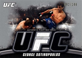 UFC Topps Ultimate Fighting Championship 2010 Knockout Single Card Silver Mat Relic FM-GS George Sotiropoulos 82/188