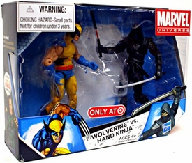 Marvel Universe 3 3/4 Inch Exclusive Action Figure 2-Pack Wolverine Vs. Hand Ninja [Black]