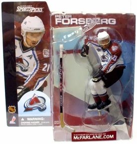McFarlane Toys NHL Sports Picks Series 1 Action Figure Peter Forsberg (Colorado Avalanche)