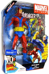 Marvel Universe Exclusive Action Figure 2-Pack Iron Man & 12 Inch VARIANT Goliath {Red & Blue} [Includes Avengers #51]