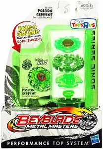 Beyblades Metal Masters Exclusive Sonic Series Balance Battle Top #BB69A Poison Serpent