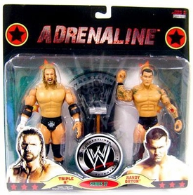 WWE Wrestling Adrenaline Series 37 Action Figure 2-Pack Triple H & Randy Orton