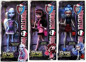 Monster High Scaris City of Frights Set of 3 Basic Dolls Draculaura, Abbey Bominable & Ghoulia Yelps