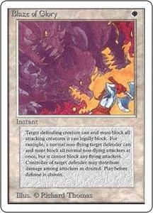 Magic the Gathering Unlimited Edition Single Card Rare Blaze of Glory