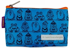 Lunch & Snack Bags: AllerMates Allergy Alert Reusable Snack Bags Blue (short) BLOWOUT SALE!