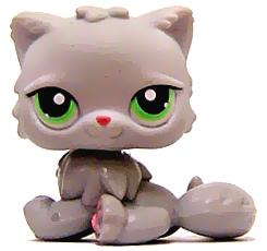 Littlest Pet Shop LOOSE Figure #82 Light Grey Cat