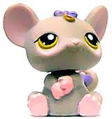 Littlest Pet Shop LOOSE Figure #116 Grey Mouse RARE!