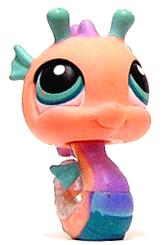 Littlest Pet Shop LOOSE Figure #142 Pink Seahorse RARE!