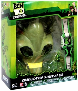 Ben 10 Omniverse Crashhopper Roleplay Set [Mask, Omnitrix & Action Figure]