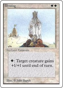 Magic the Gathering Unlimited Edition Single Card Rare Blessing