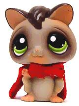 Littlest Pet Shop LOOSE Figure #432 Sugar Glider with Cape RARE!