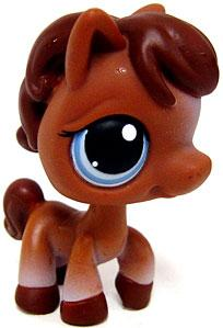 Littlest Pet Shop LOOSE Figure #337 Brown Horse RARE!