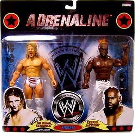 WWE Wrestling Adrenaline Series 36 Action Figure 2-Pack Brian Kendrick & Ezekiel Jackson Damaged Package!