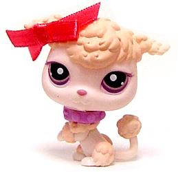 Littlest Pet Shop LOOSE Figure #390 Parisian Poodle with Bow