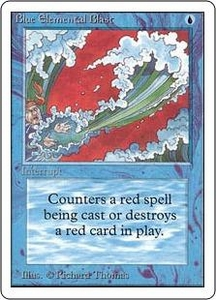 Magic the Gathering Unlimited Edition Single Card Common Blue Elemental Blast
