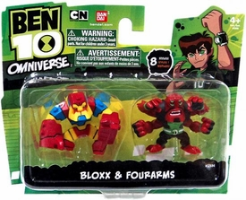Ben 10 Omniverse 2 Inch Mini Figure 2-Pack Bloxx & Fourarms