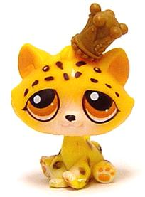 Littlest Pet Shop LOOSE Figure #388 Leopard with Crown MEGA RARE!