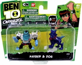 Ben 10 Omniverse 2 Inch Mini Figure 2-Pack Khyber & Dog