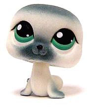 Littlest Pet Shop LOOSE Figure #399 White Fuzzy Seal RARE!