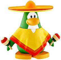 Disney Club Penguin 2 Inch Mini Figure Sombrero Guy