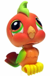 Littlest Pet Shop LOOSE Figure #394 Orange Parakeet