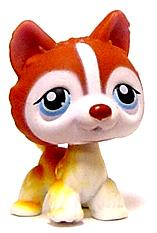 Littlest Pet Shop LOOSE Figure Brown Huskey