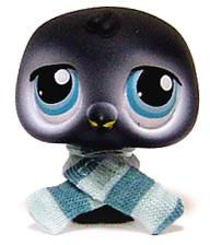 Littlest Pet Shop LOOSE Figure #389 Baby Penguin with Scarf