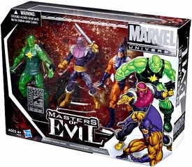 Marvel Universe 2012 SDCC San Diego Comic Con Exclusive 3.75 Inch Action Figure 3-Pack Masters of Evil [Zemo, Tiger Shark & Radioactive Man]