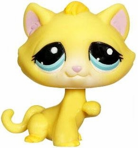 Littlest Pet Shop LOOSE Figure Yellow Kitty