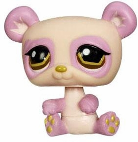 Littlest Pet Shop LOOSE Figure Pink Panda With Megaphone