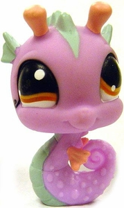 Littlest Pet Shop LOOSE Around the World Figure #1115 Purple Seahorse