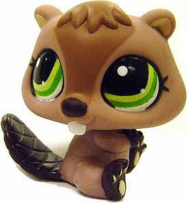 Littlest Pet Shop LOOSE Around the World Figure #1108 Beaver with Hat MEGA RARE!