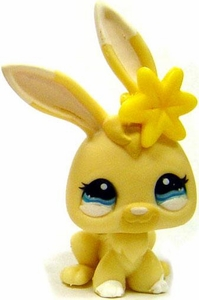 Littlest Pet Shop LOOSE Around the World Figure #1117 Yellow Baby Bunny