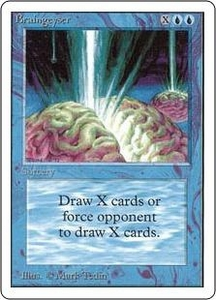 Magic the Gathering Unlimited Edition Single Card Rare Braingeyser